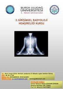 2. Girişimsel Radyoloji Hemşireliği Kursu @ Mete Cengiz Kültür Merkezi Jandarma Er Bahadır Aydın Seminer Salonu